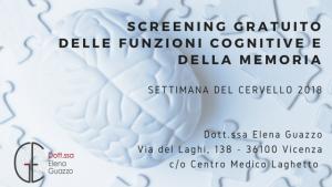 Screening gratuito delle funzioni cognitive e della memoria
